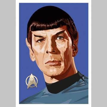 STAR TREK (A3 Framed Print) - Spock
