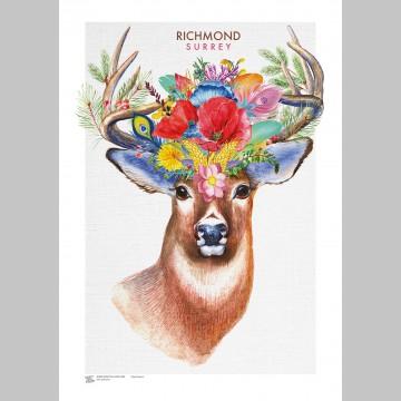 TOWNS (A3 Framed Print) - Richmond Stag