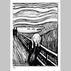 ARTIST (A3 Framed Print) - Edvard Munch - The Scream