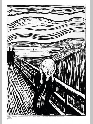 ARTIST (A3 Framed Print) - Edvard Munch - The Scream - £25