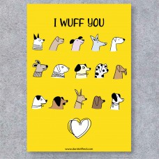 GREETINGS CARDS - I WUFF YOU